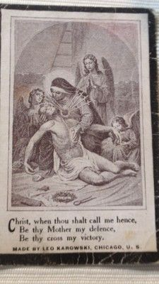 Antique 1915 EASTER Holy Card