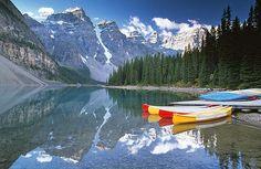 Moraine Lake Canoes by JLMphoto, via Flickr