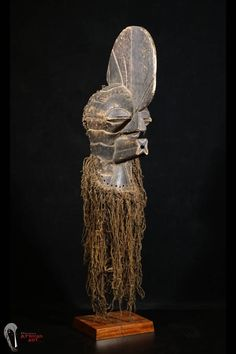Discover African Art : Exceptional Old Songye Kifwebe Mask with Custom Mount