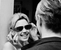 Edie Sedgwick  with  Warhol