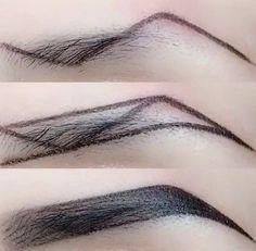 Accessoires Z-Typ Augenbrauen Make-up-Technik Makeup Makeup Techniques eyebrows Eyebrow Makeup Tips, Makeup 101, Makeup Videos, Makeup Brushes, Makeup Eyebrows, Blonde Eyebrows, Eye Brows, Makeup Inspo, Drawing Eyebrows