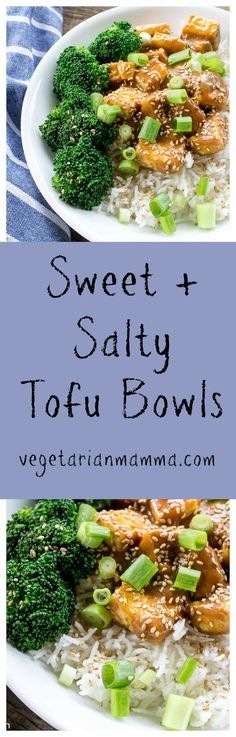Factors You Need To Give Thought To When Selecting A Saucepan Sweet And Salty Tofu Bowls Are Loaded With Delicious Flavor. They Are Easy To Make And Have The Perfect Balance Between Sweet And Salty Best Gluten Free Recipes, Tofu Recipes, Entree Recipes, Vegetable Recipes, Vegetarian Recipes, Healthy Recipes, Delicious Recipes, Veggie Meals, Veggie Food