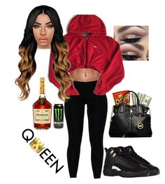 """"""" House Party """" by jesseer28 ❤ liked on Polyvore featuring NIKE and MICHAEL Michael Kors"""