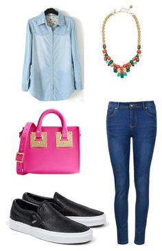 """Outfit de hoy"" by damarislondon on Polyvore featuring moda, Ally Fashion, Vans, Sophie Hulme y Kate Spade"