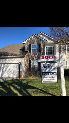 Sold! Congrats to both buyers & sellers! #GeistRealty 317-874-7041 www.HomesAroundGeist.com