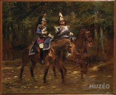 Officiers du 2e régiment de cuirassiers de la Garde Impériale, Second Empire de Detaille Jean-Baptiste-Edouard