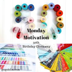 Celebrate my 50th Birthday with me! Enter for your chance to WIN fabulous @modafabrics and @aurifil thread!