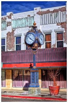 A quirky, colorful clock in  downtown Twin Falls (south central). Photo by Steve Glauner