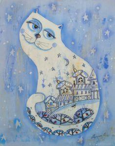 Белый кот – купить в интернет-магазине на Ярмарке Мастеров с доставкой