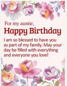 61 Best Aunt Birthday Ideas Aunt Birthday Birthday Wishes For Aunt Happy Birthday Aunt