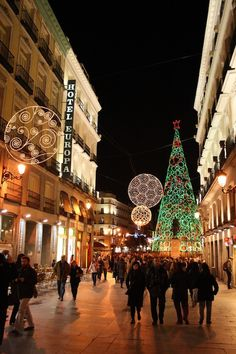 Madrid's Christmas lights are a lot of fun to see and taking an evening stroll through the main streets is the best way to get into the Christmas spirit. When you've seen enough, definitely head back to the Puerta del Sol area after for piping hot churros at San Gines. It's a Christmas tradition you simply have to take part in! https://www.pinterest.com/pin/415668240585462962/