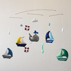 Sailing - To order this fantastic handmade felt mobile visit www.for-example.co.za