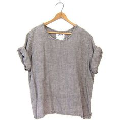 Also like that it's linen so it's a little different than the average T. Loose Fitting Tops, Loose Tops, Linen Tshirts, Blouse Vintage, Vintage Shirts, Vintage Tops, Couture, Linen Dresses, Colorful Fashion