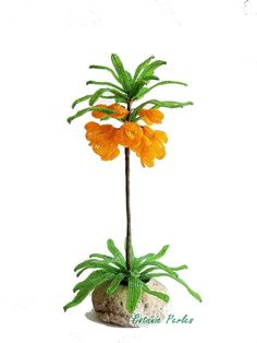 Plante fleurie en perles - Fritillaire grandeur nature