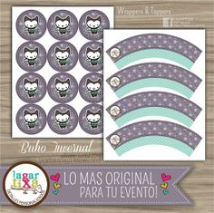 Wrappers & Toppers Buho Invernal USO PERSONAL por LagartixaShop, $50.00