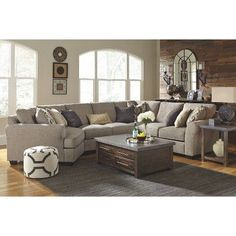 in by Ashley Furniture in Suwanee, GA - Pantomine Sectional With Chaise Sectional Living Room Sets, Living Room Grey, Home Living Room, Living Room Furniture, Living Room Designs, Living Room Decor, Living Area, Small Living, Modern Living