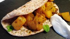 I love making this dish, it's so easy and flavoursome. It can be made in very little time, and also a good way to use leftover boiled potatoes. The fried whole cumin seeds have a unique slightly nutty flavour. I like these delicious potatoes wrapped in either chapati or pharata or simply with boiled rice. Alternatively it makes a great accompaniment with roast meat or fish. A great vegetarian, vegan dish to please many. Perfect side dish...