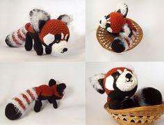 Red Panda amigurumi by Crayyons Knit Or Crochet, Crochet Hats, Red Panda, Stuffed Toys, Austin Tx, Crayons, Softies, Needle Felting, Needlework
