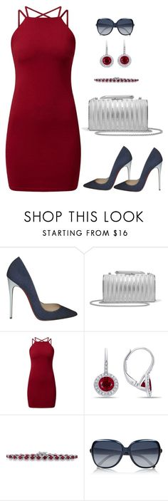 """Untitled #1100"" by gallant81 ❤ liked on Polyvore featuring Christian Louboutin, KOTUR, Diana M. Jewels, Magnum and Chloé"