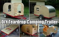 Easy DIY Teardrop Camping Trailer - The weather is perfect right now for…
