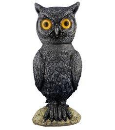 Animated Owl Halloween Prop