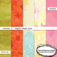Freebie Paper Pack of the Day ...digging out the fall decor, and maybe planning a few new projects. I made up these painted texture papers in Art Rage that  I think would be fabulous used on some fall inspired projects. 5 Free High resolution digital papers.12 x 12 inches @ 300 dpi. Download the goodies here. Free for personal and commercial use – please see our terms of use for complete details.