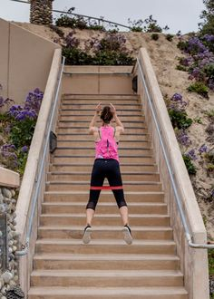 A quick stairs workout with resistance band that will make your legs and booty shake!