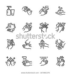 Hygiene Related Thin Icon Set 4 Stock Vector (Royalty Free) 1673661376 Vector Icons, Vector Free, Royalty Free Images, Royalty Free Stock Photos, Medical Icon, Icon Font, Line Icon, Icon Design