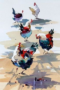 rooster-watercolor