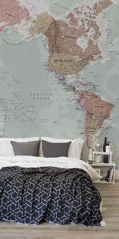 83 best world map wallpaper images on pinterest bedroom ideas classic world map wallpaper stylish map mural muralswallpaper gumiabroncs Gallery