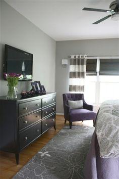 Bedroom Inspiration-Gray and Purple