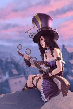 League of Legends Caitlyn fan art.