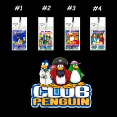 Club Penguin Set of 12 VIP Party Invitation Passes or Party Favors