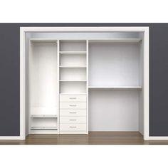 Closet layout W - W Closet System Closet Ikea, Kid Closet, Closet Space, Closet Shelves, Dresser In Closet, Closet Built Ins, Entryway Closet, Bedroom Closet Design, Master Bedroom Closet