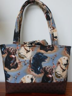 Handmade Tote shoulder bag purse  Labradors by Joanna1966 on Etsy, $30.00