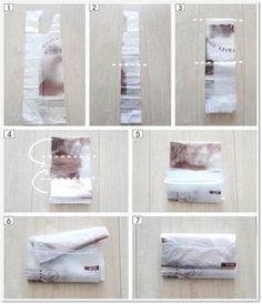 レジ袋・ビニール袋のたたみ方と、6つの収納方法   メグメグの好奇心♪♪ 収納インテリア