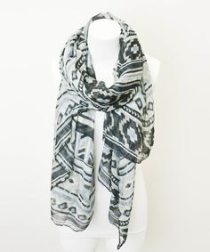 Gray Tribal Scarf