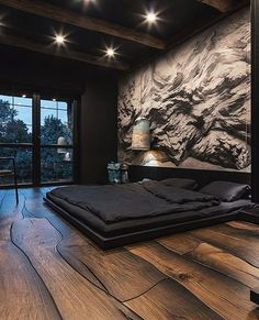 Modern Bedroom Vanity Ideas - Home Interior Design Ideas Luxury Bedroom Design, Bedroom Bed Design, Home Room Design, Home Bedroom, Home Interior Design, Wall Designs For Bedroom, Exterior Design, Asian Bedroom Decor, Black Bedroom Design