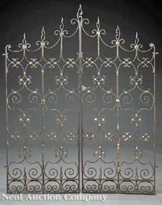 iron gate design for portico