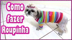 ☃ COMO FAZER ROUPINHA DE INVERNO PARA CACHORROS ADULTO  OU FILHOTE ☃ Dog Coats, Pet Shop, Shih Tzu, Yorkie, Pets, Animals, Pandora, Crochet, Dog Outfits