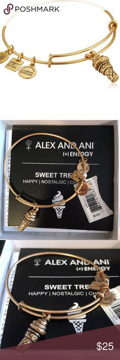 "Alex and Ani ""Sweet Treats"" bracelet Alex and Ani ""Sweet Treats"" bracelet  Gold Alex and Ani bracelet, never worn. New with tags in original packaging Alex and Ani Jewelry Bracelets"