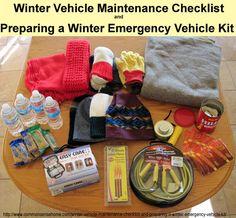 Winter Vehicle Maintenance Checklist and Preparing a Winter Emergency Vehicle Kit ~ Common Sense Homesteading~