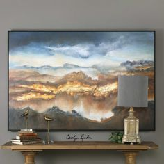 Inspired by a breathtaking thunderstorm over the grand canyon, Valley of Light brings the intensity of nature into fascinating abstract form. Designed by Carolyn Kinder International.