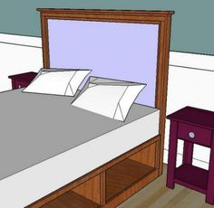 I want to make this!  DIY Furniture Plan from Ana-White.com  These simple, easy to build, wood framed upholstered headboards can add a touch of luxury and a lot of style to a bedroom in just a few hours.