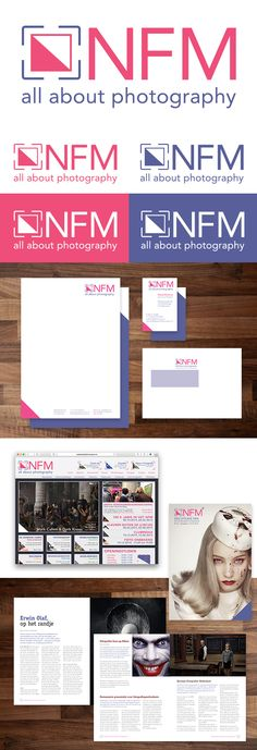 "In the last period of 2014, I was asked by school to make a a complete redesign of the brand for NFM, (Dutch national museum of photography)  My thoughts for this restyle was ""Contrast"", ""minimalistic"", icons.   #Branding #logo #website #design #magazine #NFM #style #contrast #photography"