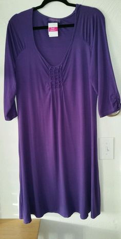 Fresh Produce Purple Plus Dress 1X NEW 3/4 sleeves in Clothing, Shoes & Accessories, Women's Clothing, Dresses | eBay