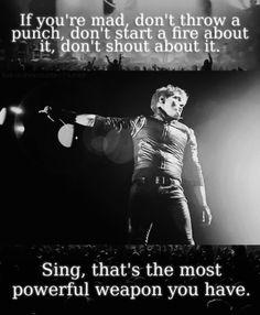 My Chemical Romance! Quote-Gerard Way Mcr Quotes, Band Quotes, Romance Quotes, Band Memes, Funny Quotes, Qoutes, Mikey Way, Gerard Way, Music Stuff
