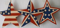 wood patriotic stars