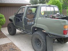 Low & Slow 84 *Quad Cab project* - Page 17 - : and Off-Road Forum Toyota 4x4, Toyota Trucks, Trailers, Half Doors, Desert Camo, Land Cruiser, Welding, Quad, Offroad