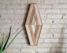 Items similar to Reclaimed Wood Wall Art | Wood Decor | Reclaimed Wood | Wood Art | Rustic Geometric| Wood Decor | Handmade | Impossible Geometry | Modern on Etsy